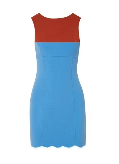 Kirby Scallop Dress- Powder Blue
