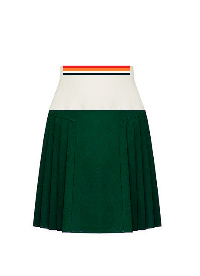 Arizona Pleated Skirt- Forest on maison aria