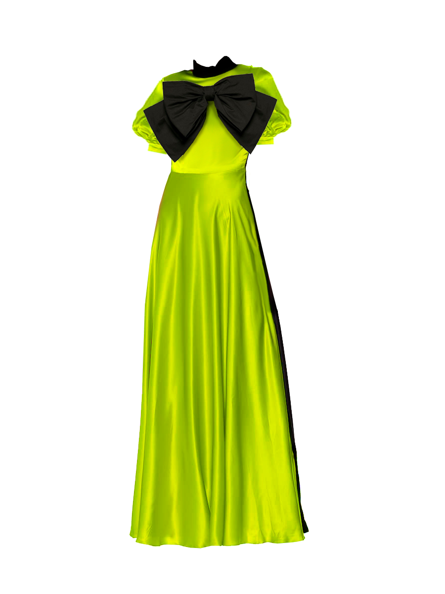 Shalewa Lime Two Toned Maxi Dress- Resort '20 collection
