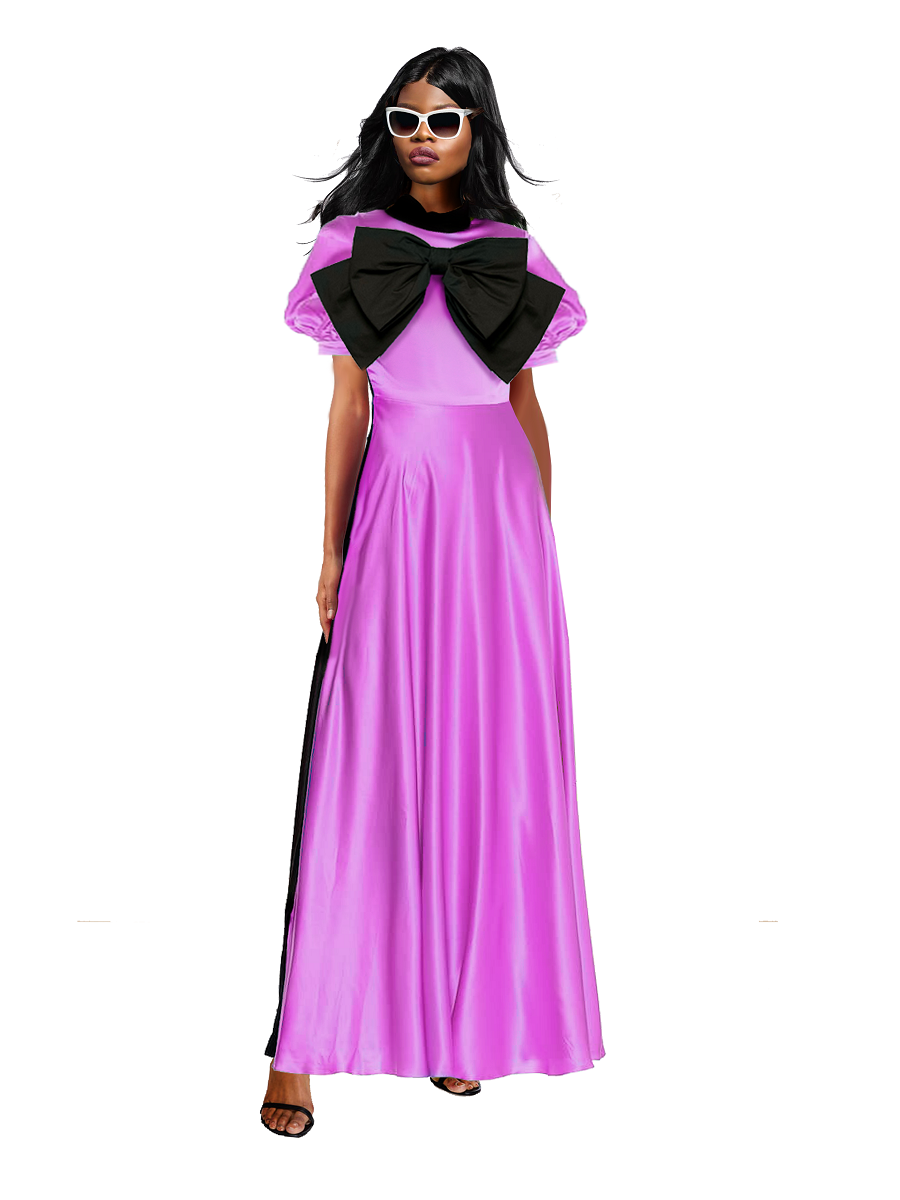 Shalewa Lavender Two Toned Maxi Dress- Resort '20 collection