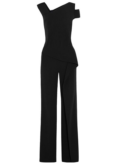 Rumi Draped Jumpsuit- Black