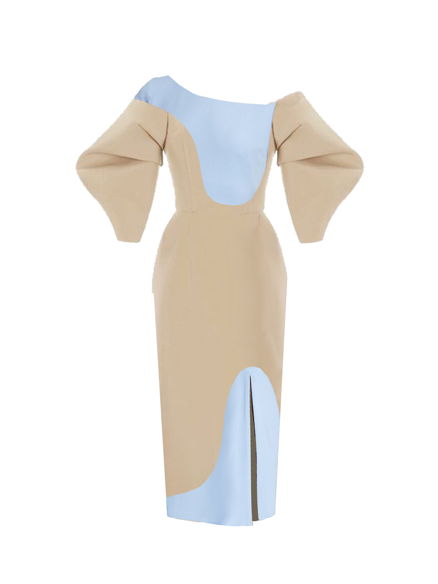 Rosalie Dress- Beige