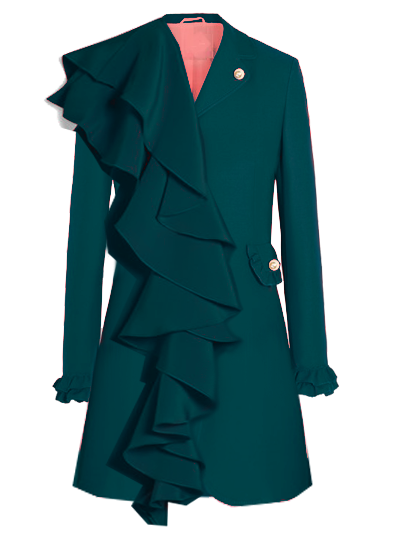 Printemps Blazer Dress- Green on maison aria