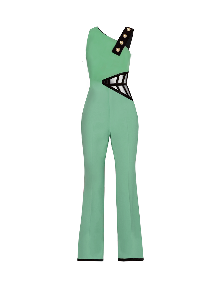 Jaded Corset Insert Jumpsuit on maison aria
