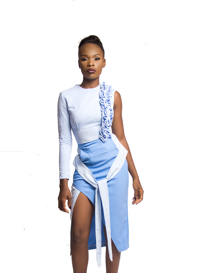 Fiji Skirt- Blue on maison aria