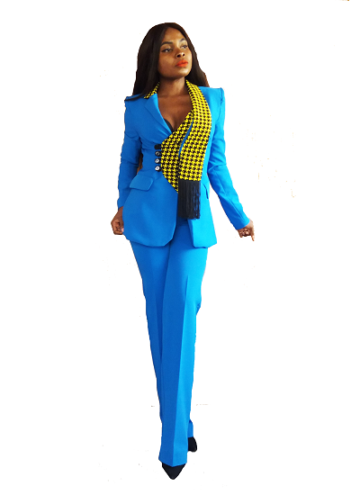 Alisha Suit Set - Blue
