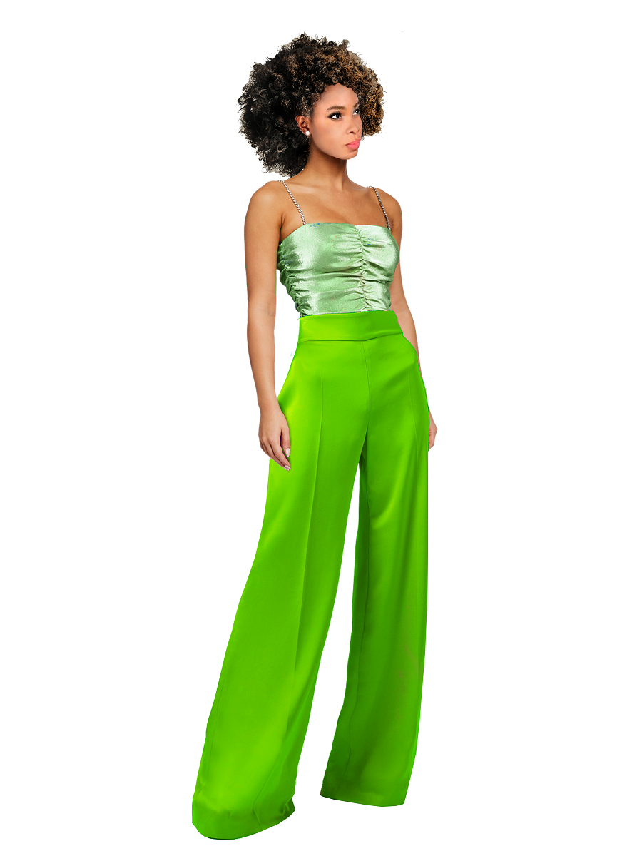 Luna Silky Wide Pants- Resort '20 Collection on maison aria