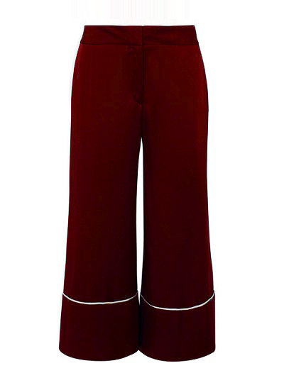 Camilla Culotte Pants- Burgundy on maison aria