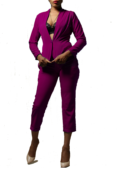 Monroe Jacket and Pants Set- Magenta