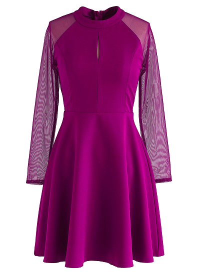 Katie Flared Dress- Magenta