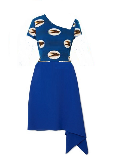 Rich girl, Fly girl Dress- Blue on maison aria