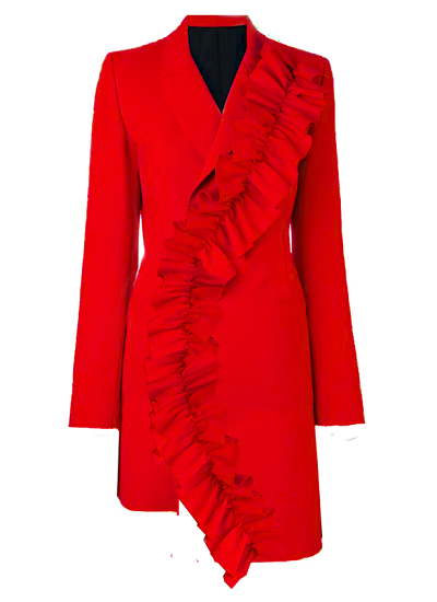 Mary Jane Suit Dress- Red