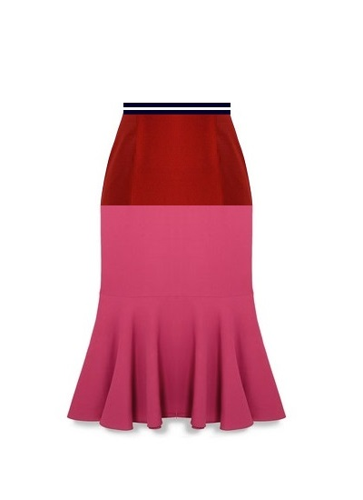 Martini Cocktail Skirt- Pink