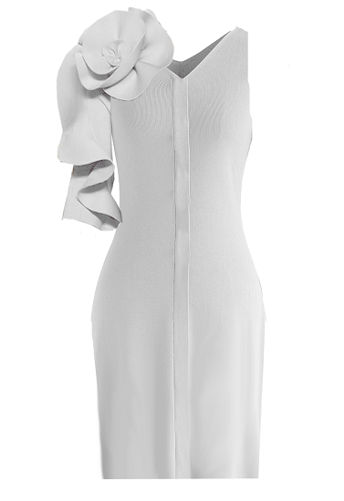 Lisbon Dress - White on maison aria