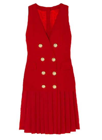 Sacramento Blazer Dress - Red