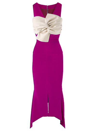 Cassandra Bustier Dress- Magenta