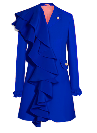Printemps Blazer Dress - Royal blue  on maison aria