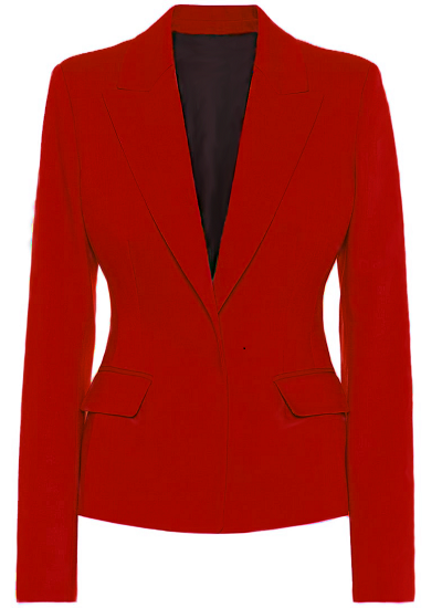 Alexa Basic Blazer- Red