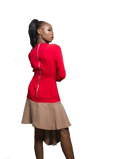 Salvatore Dress- Red