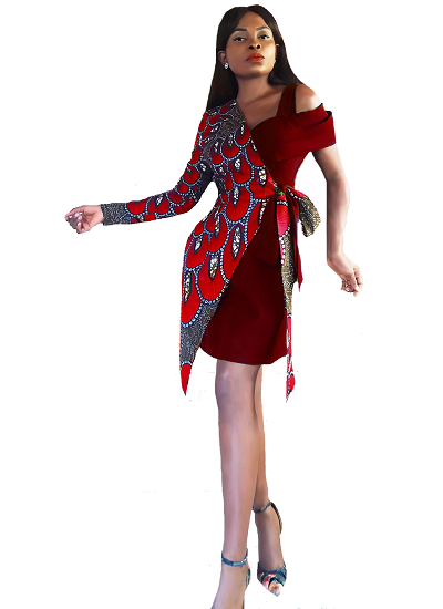 Isabella Blazer Dress- Red