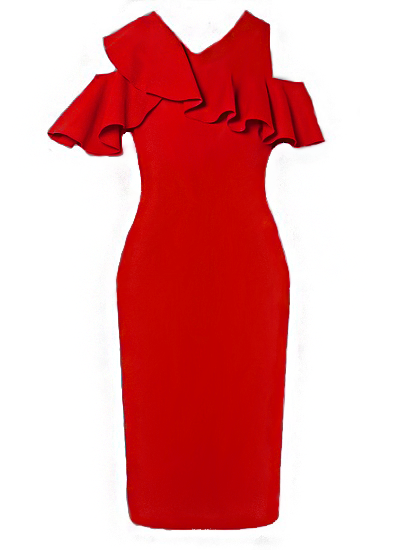 Leslie Resort Dress-Red