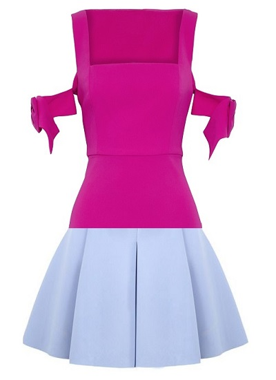 Cotton Candy Babe Block Dress on maison aria