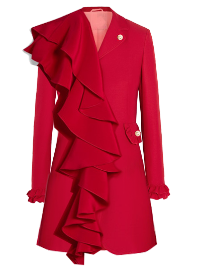 Printemps Blazer Dress- Red