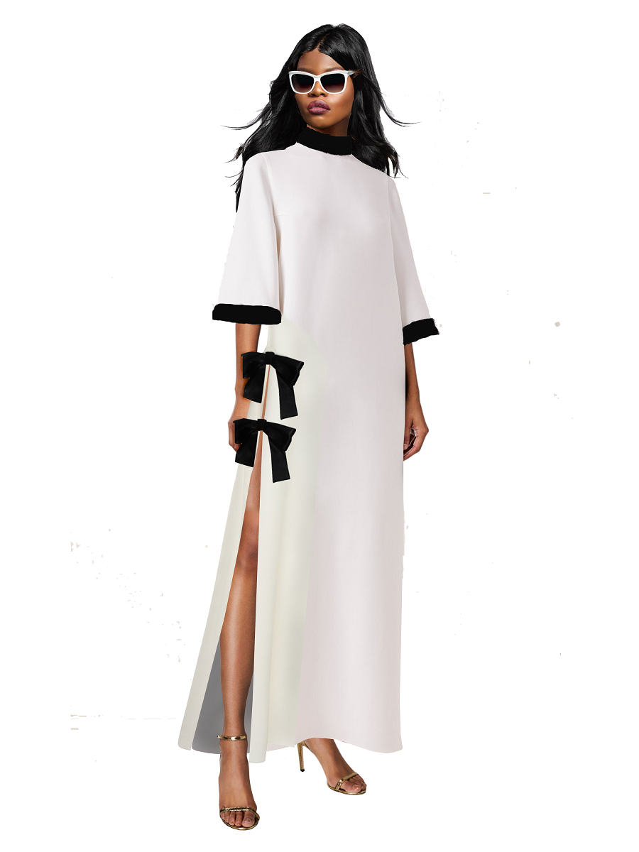 Sia Maxi Crepe Caftan Dress- Resort '20 Collection on maison aria