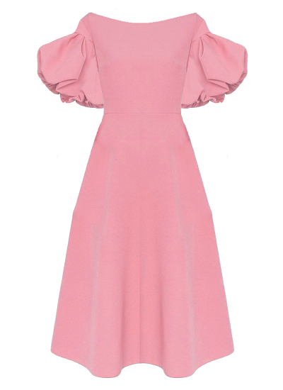 Casablanca Flared Dress- Pink on maison aria