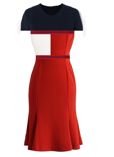 Chiara Block Dress- Red