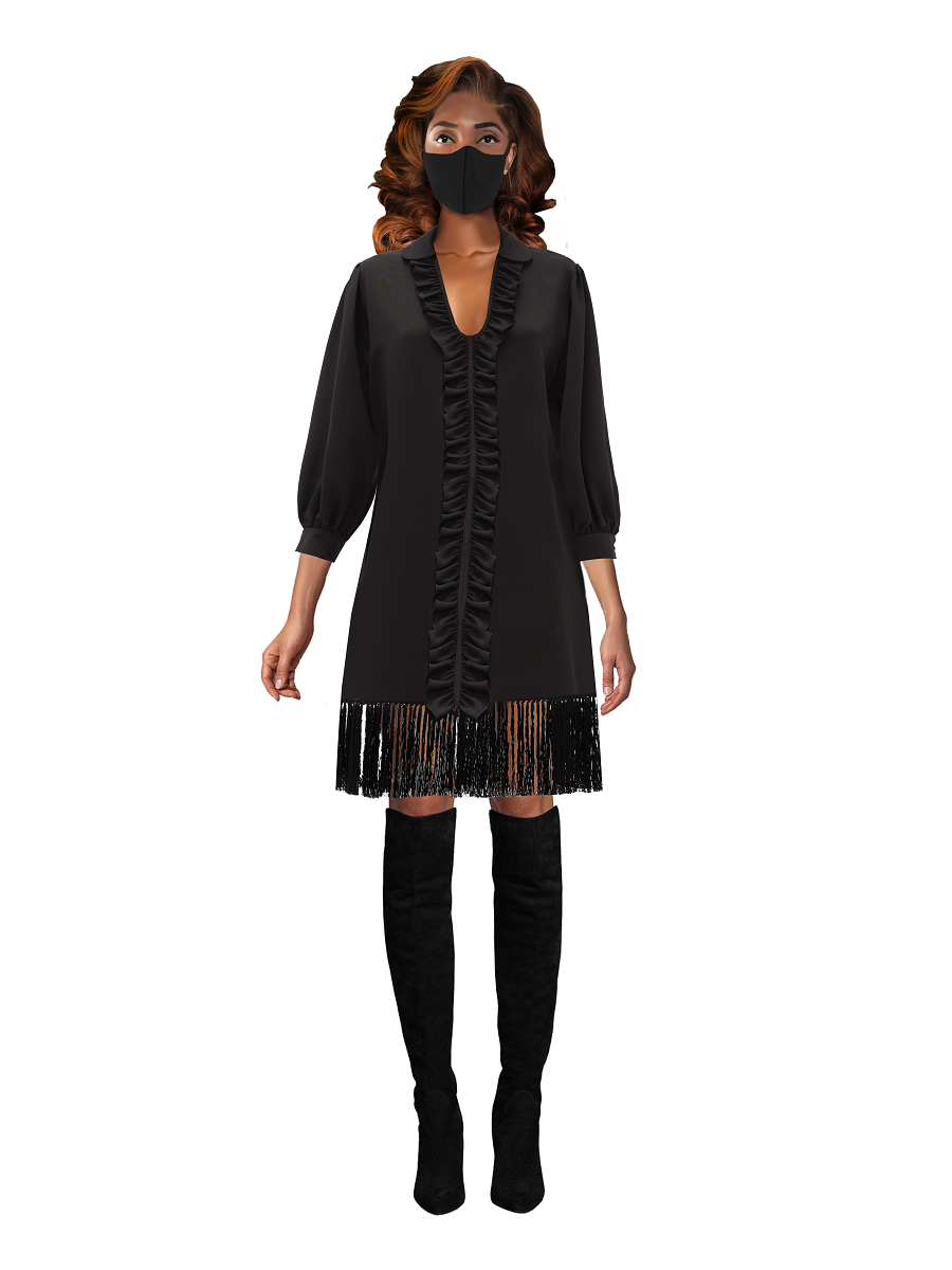 Tega Fringe Tunic  on maison aria