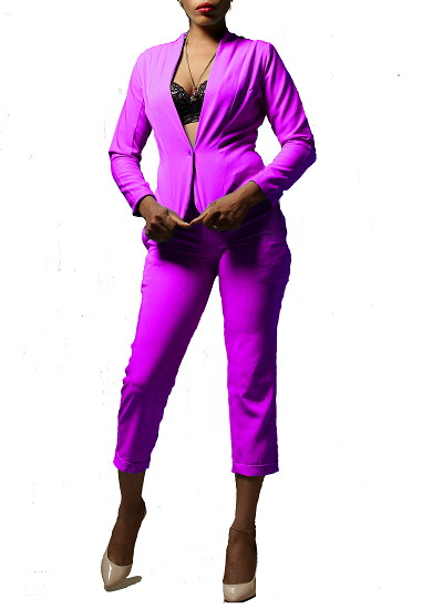 Monroe Jacket and Pants Set- Lilac