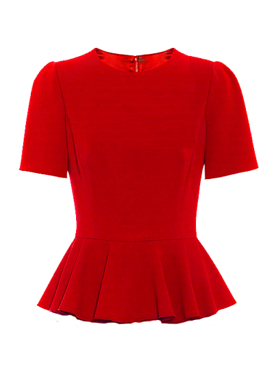 Becca Basic Peplum Top- Red