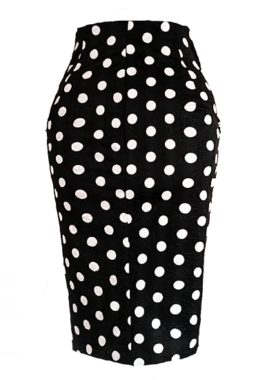 Fatima Skirt- Black (Polka dots)